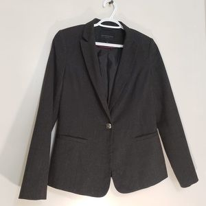 Kenneth Cole Dark Grey Collared Single Button Coat